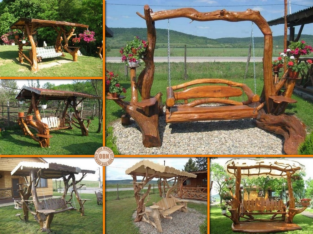 Rustic Log Swings