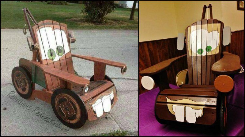 Super Build A Diy Adirondack Chair For Kids With A Tow Mater Caraccident5 Cool Chair Designs And Ideas Caraccident5Info