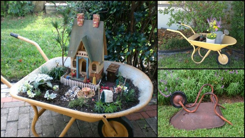 diy wheelbarrow fairy garden - Diy Fairy Garden