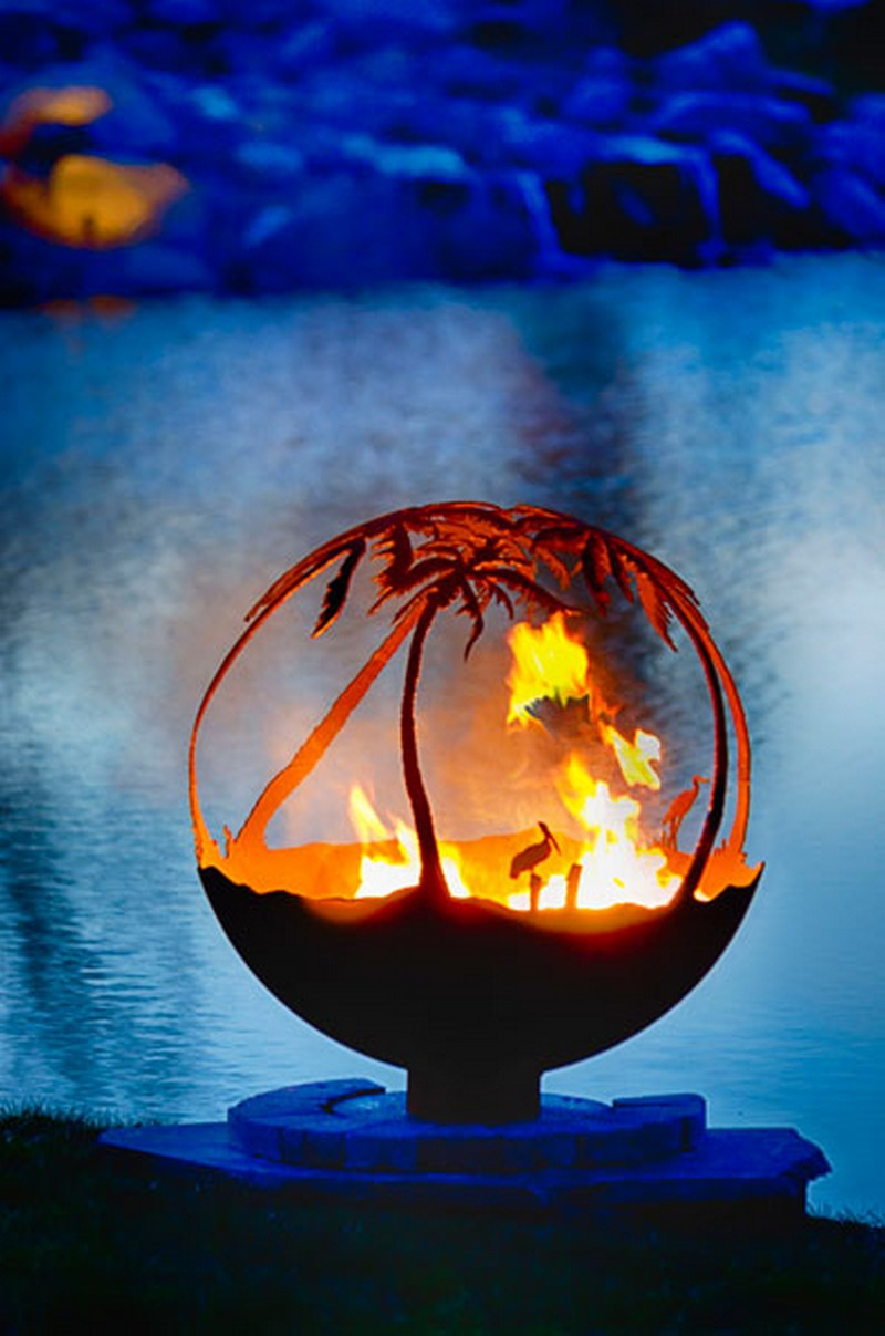 Artistic Sphere Fire Pit - Artistic Sphere Fire Pit The Owner-Builder Network