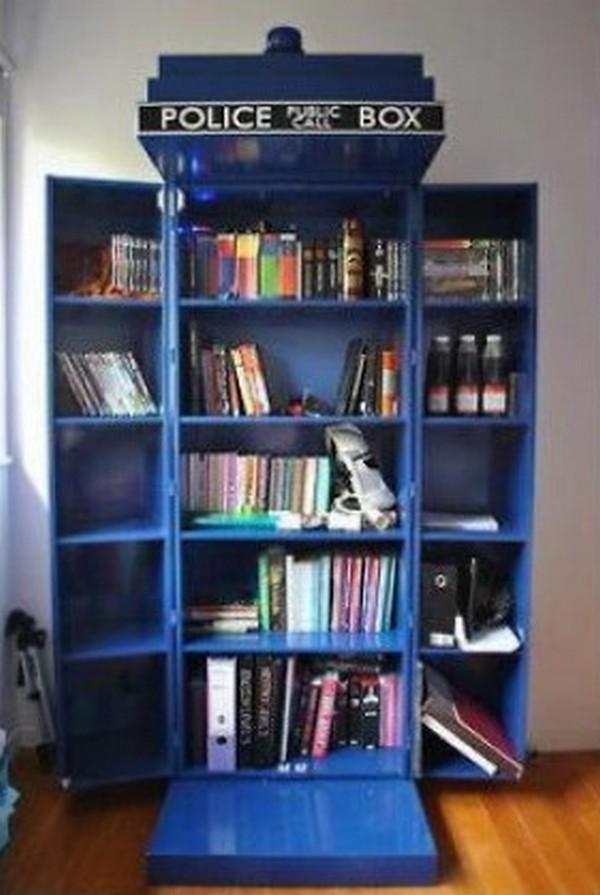 DIY TARDIS Bookshelf