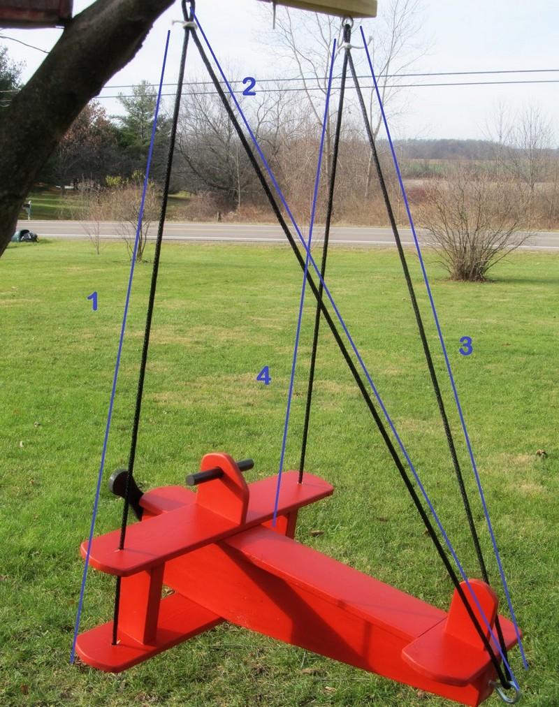 DIY Airplane Swing
