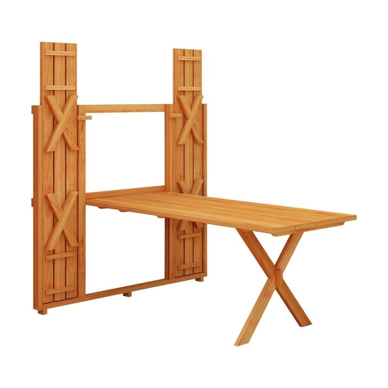 Fold up picnic table the owner builder network for Diy fold down desk