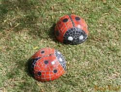 DIY Mosaic Lady Bug