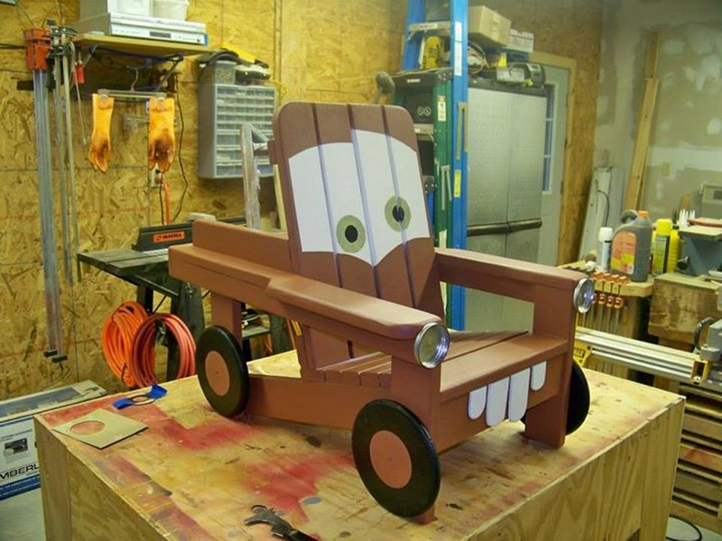 Build A Diy Adirondack Chair For Kids With A Tow Mater
