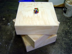 DIY Rubik's Cube Dresser