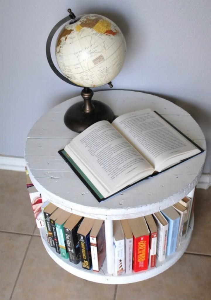 DIY Spool Bookcase