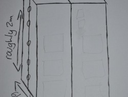 DIY TARDIS Bookshelf - Drawing