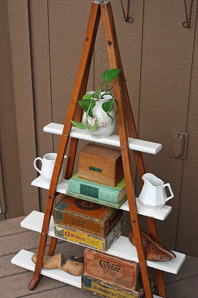 DIY Vintage Crutches Shelf