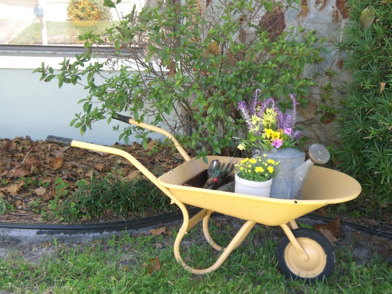 DIY Wheelbarrow Fairy Garden