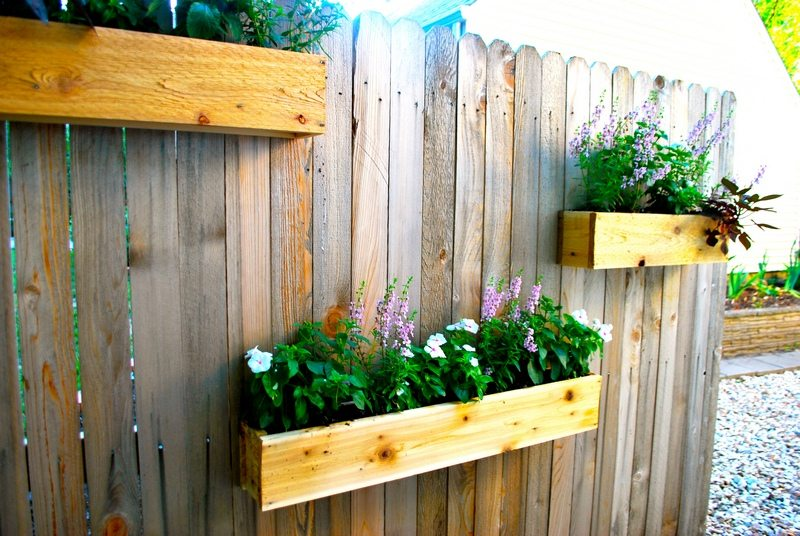 Vertical Wooden Box Planter
