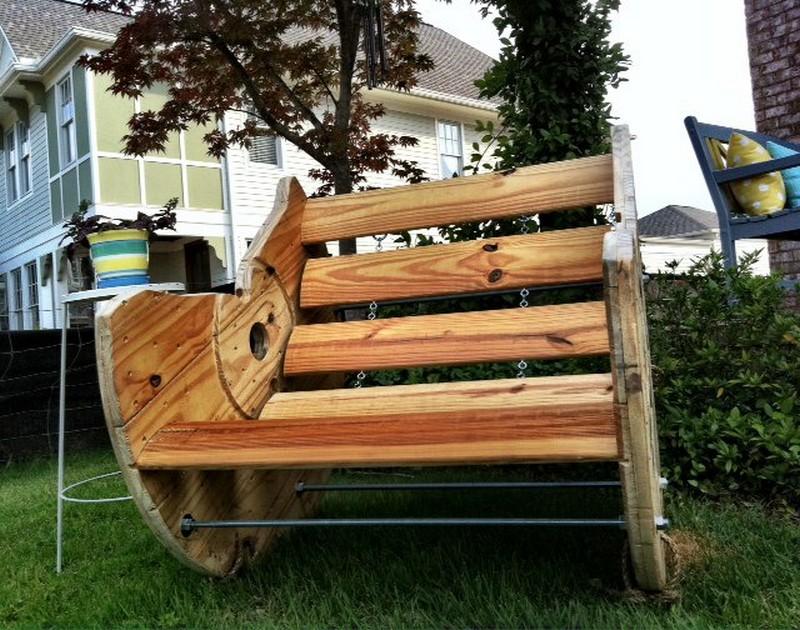 Diy Wooden Spool Chair Design Ideas