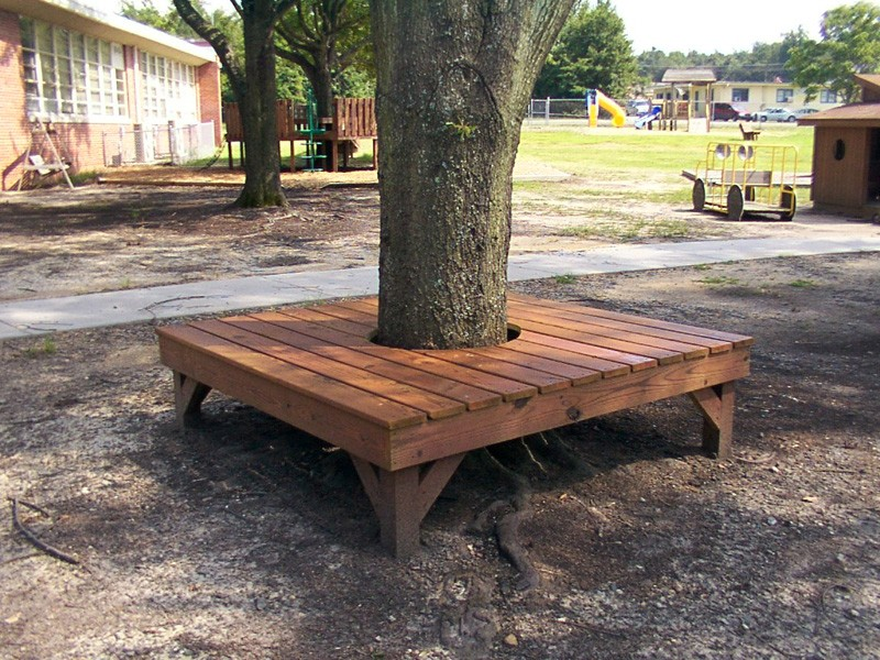 Learn How To Build A Bench Around Tree By Following The Step Instruction Here