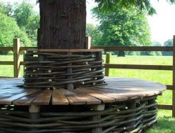 We love to spend time under the trees sitting and reading. If you do too, then you'll surely love these tree benches!