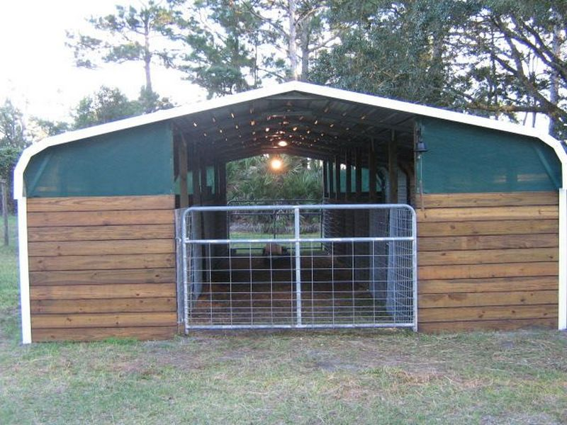 Turn a carport into a barn the owner builder network for Barn plans for sale