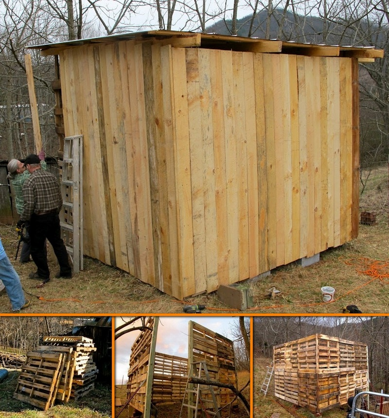 How to make a goat barn from pallets!