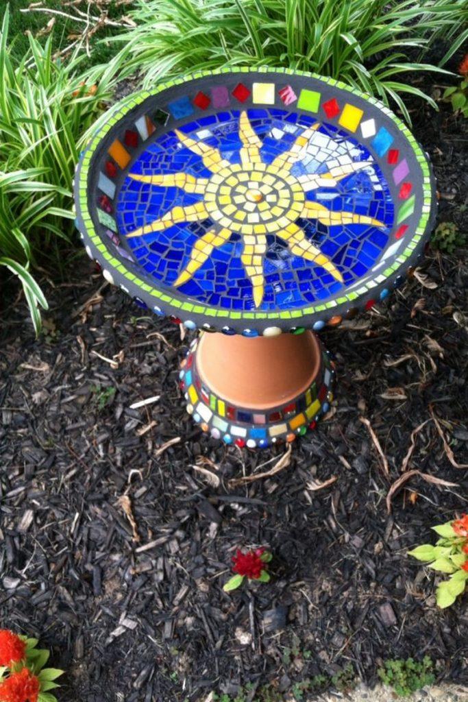 Make Your Own Mosaic Bird Bath