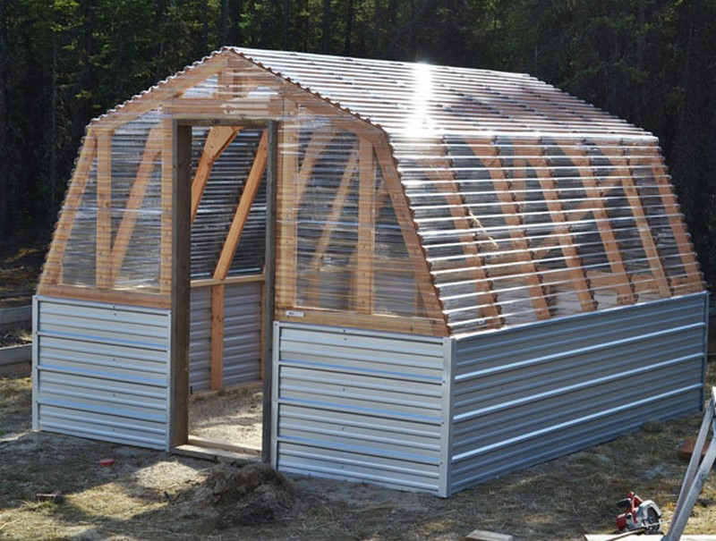 Diy barn greenhouse the owner builder network for Easy to make greenhouse
