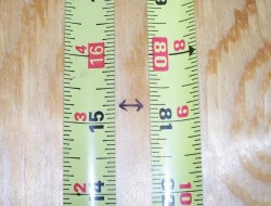 DIY Canned Food Cabinet - Measuring the plywood