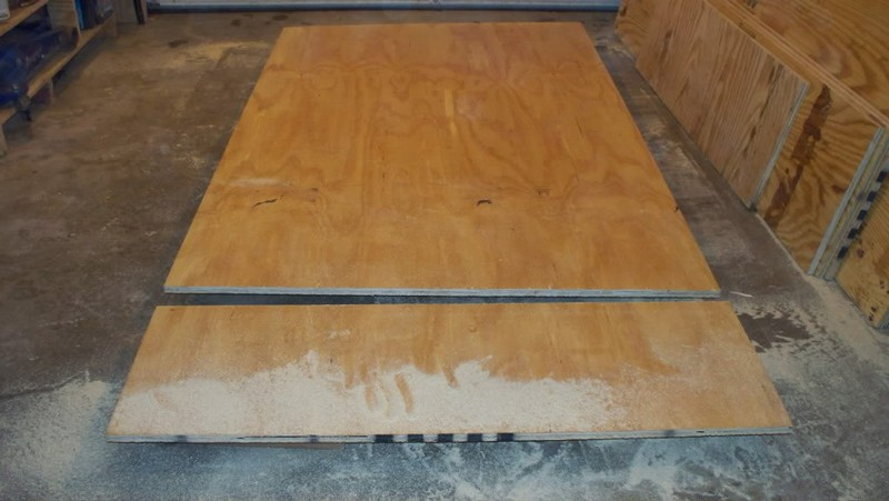 DIY Canned Food Cabinet - Cutting the plywood