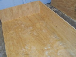 DIY Canned Food Cabinet - Gluing the plywood