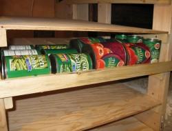 DIY Canned Food Shelf