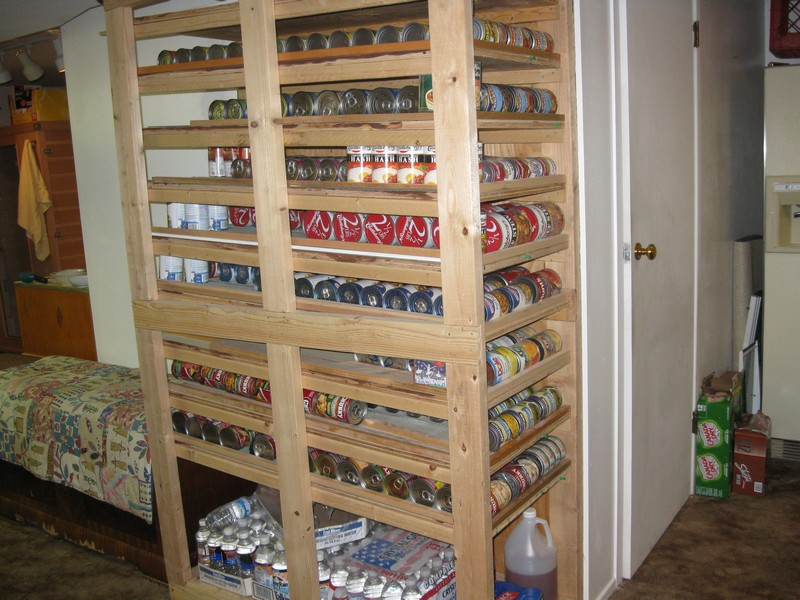DIY Canned Food Shelf
