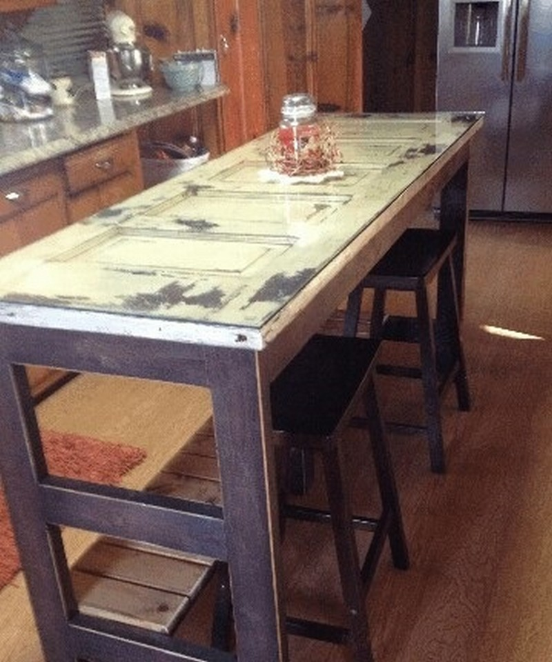 Diy Door Kitchen Island Made From An Old 800 X 960