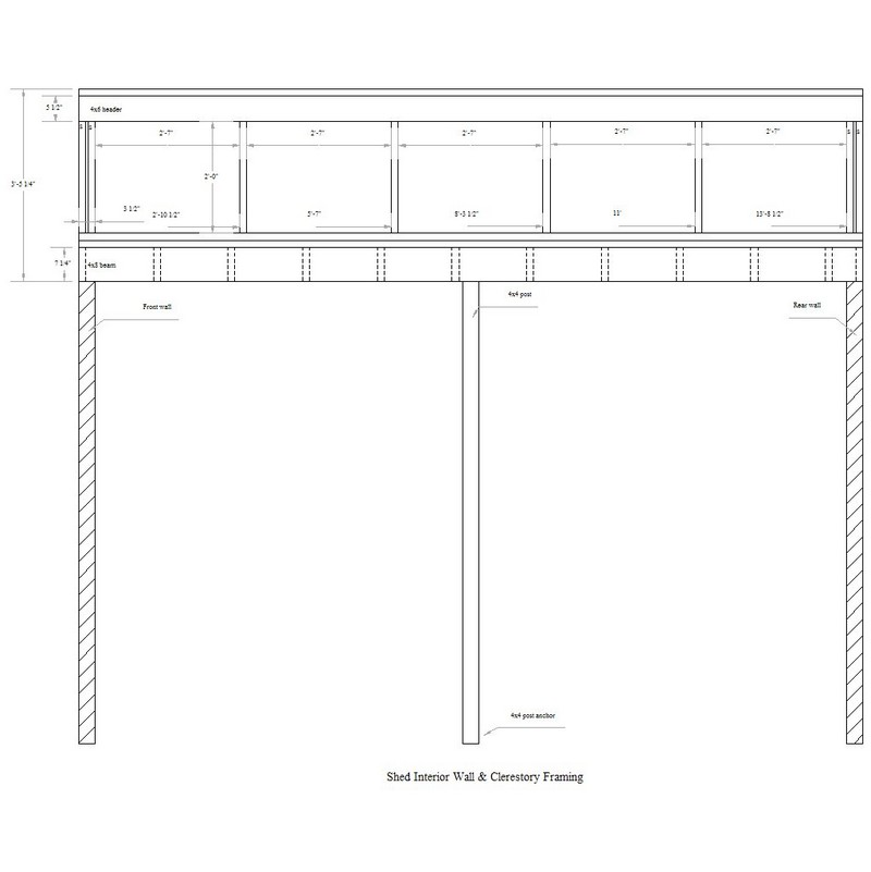 Diy garden shed the owner builder network for Clerestory style shed plans