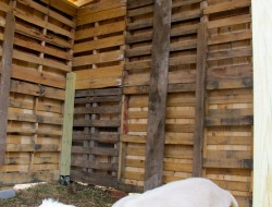 DIY Goat Pallet Barn - Finish Goat Pallet Barn