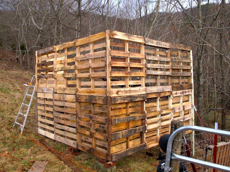 How to make a goat barn from pallets the owner builder for Shed project