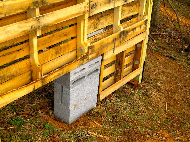 DIY Goat Pallet Barn - Set the foundation