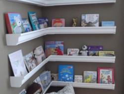 DIY Gutter Bookshelf