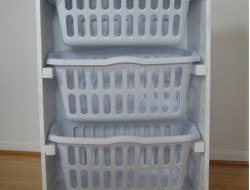 DIY Laundry Basket Dresser - Laundry Basket Dresser