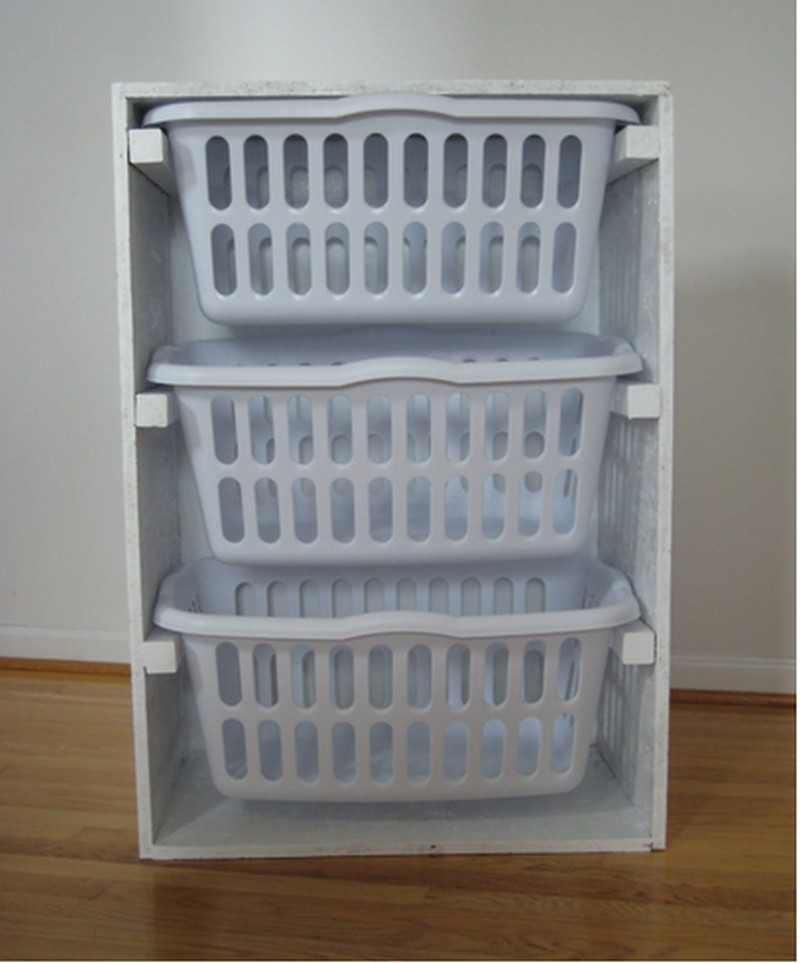 diy laundry basket dresser | the owner-builder network Laundry Basket Cabinet