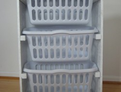 DIY Laundry Basket Dresser - Painting the whole dresser