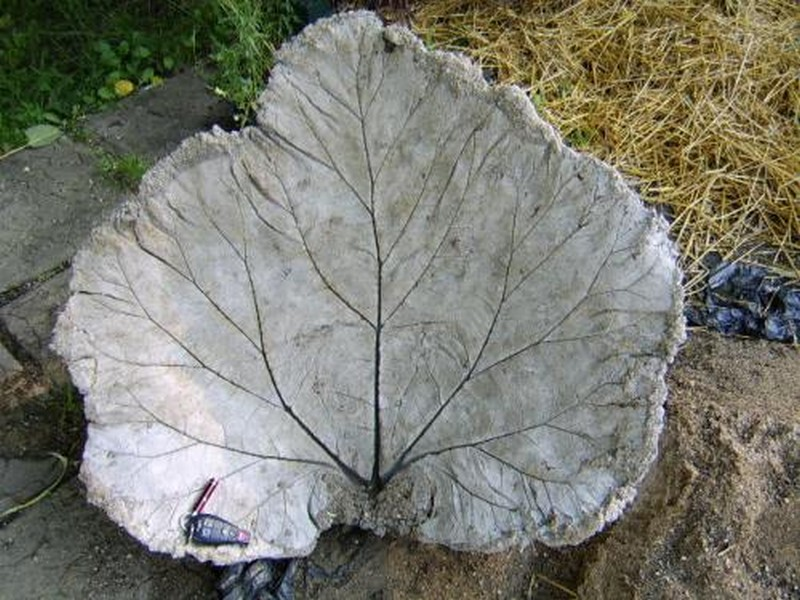 DIY Leaf-Shaped Bird Bath