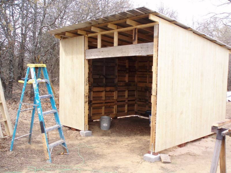 Diy pallet shed the owner builder network for Shed project