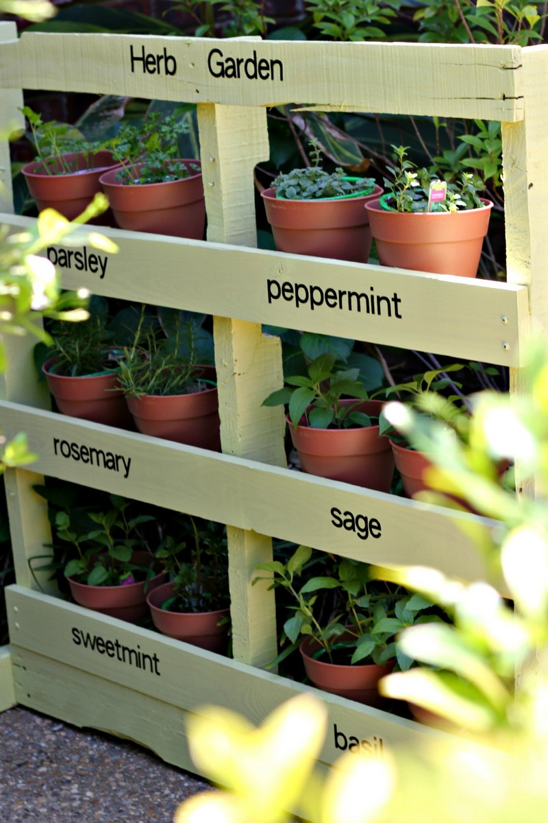 Pallet Vertical Herb Garden - The Owner-Builder Network