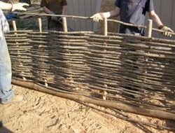 DIY Pine Wattle Fence