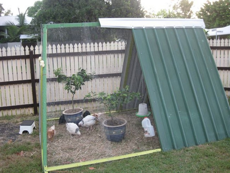 DIY Repurposed Swing Set Chicken Coop