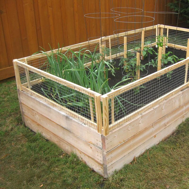 Diy Screened Raised Garden Bed The Owner Builder Network