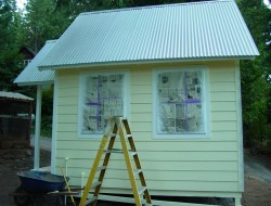 DIY Tiny Cottage - Back View