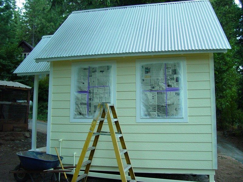 DIY Tiny Cottage - Back View