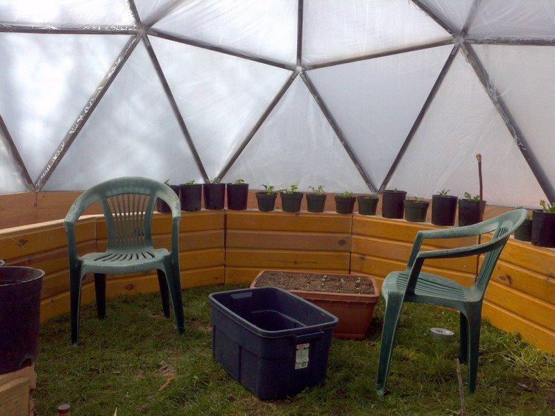 how to build a geodesic greenhouse