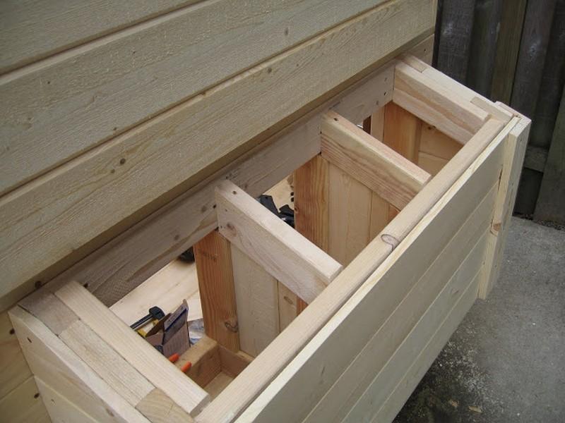 Homemade Chicken Coop - Nest box