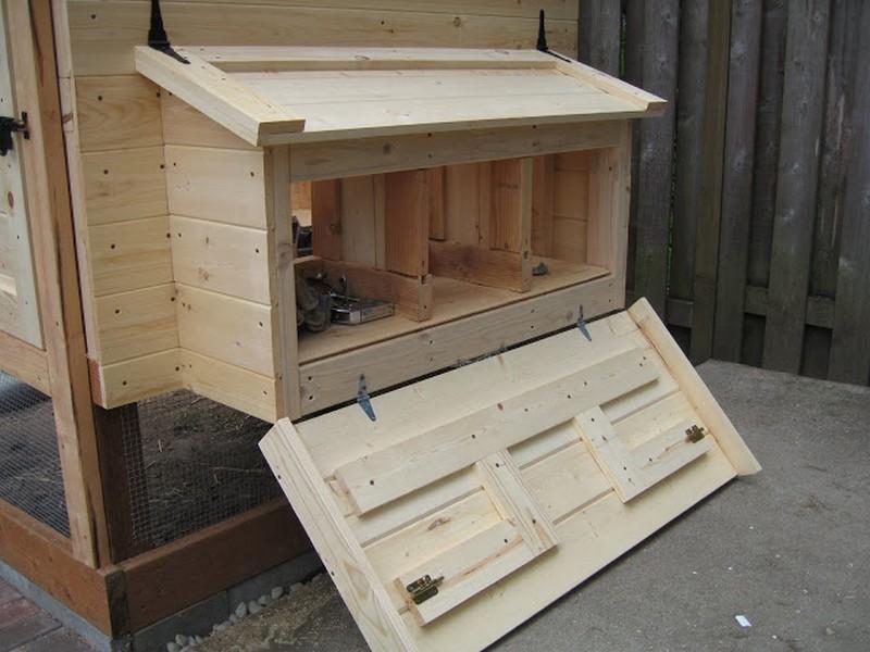 Homemade Chicken Coop - Side open door