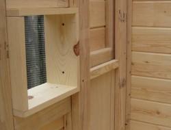 Homemade Chicken Coop - Sliding Panel
