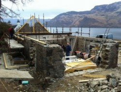 Leachachan Barn - Restoration and redesign in progress