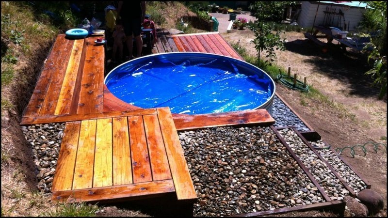 Livestock Tank Turned Diy Pool The Owner Builder Network